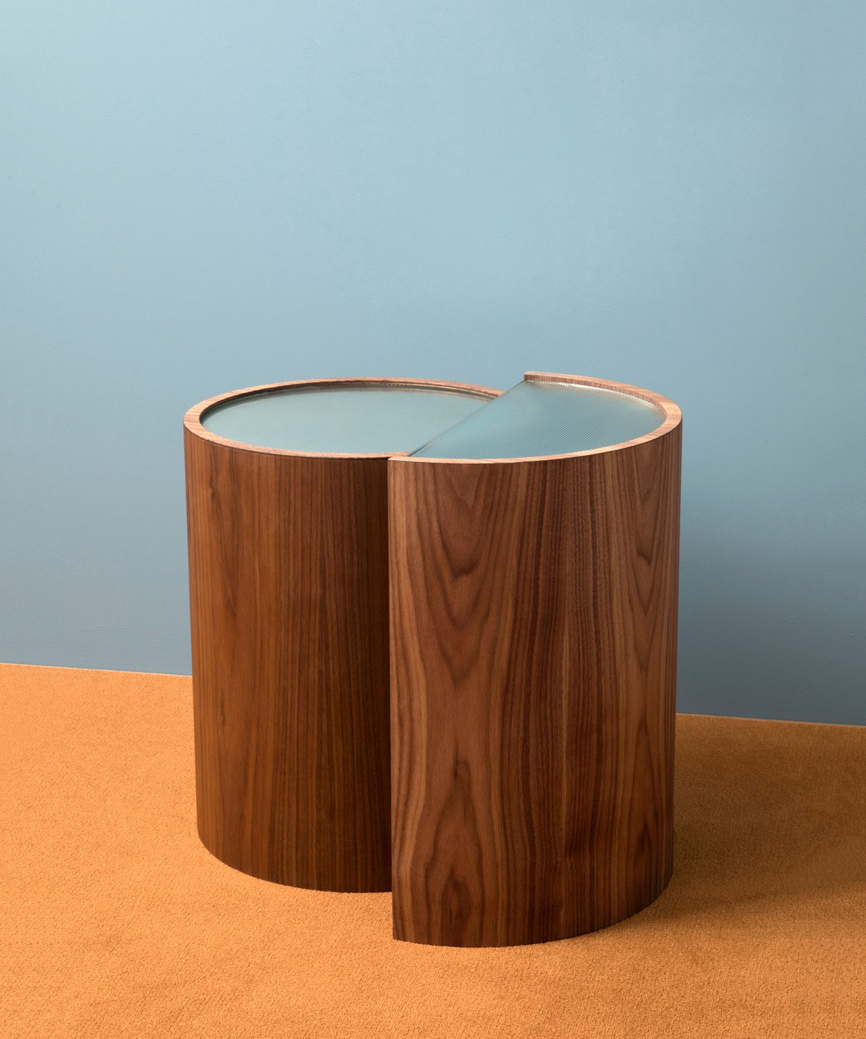 Round Coffee Table With Chairs.Contour Side Table Set Bower Studios